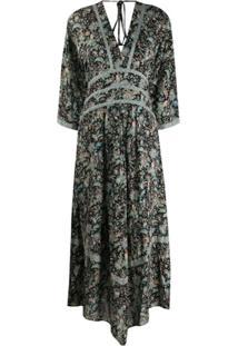 Ba&Sh Baby Floral-Print Dress - Preto