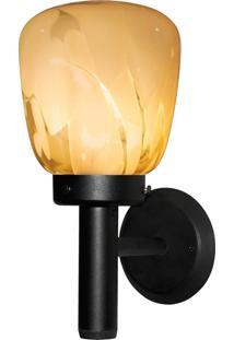Arandela Taschibra Thor 800 Tocha Bivolt 1 Lâmpada Led Preta/Âmbar