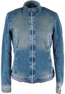 Jaqueta Fiero Térmica Jeans Queens - Feminino-Jeans