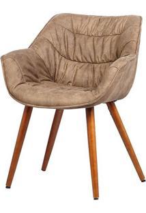 Cadeira Com Braco Bumpee Vintage Marrom - 37953 - Sun House