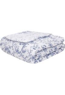 Edredom Solteiro Venezia- Branco & Azul- 160X240Cmandreza