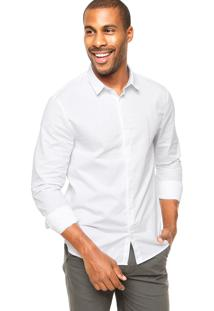 Camisa Calvin Klein Jeans Gola Ponta Branca