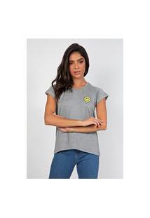 T-Shirt Myah Smile Cinza