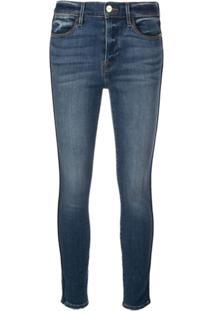 Frame Calça Jeans Skinny Cropped - Azul
