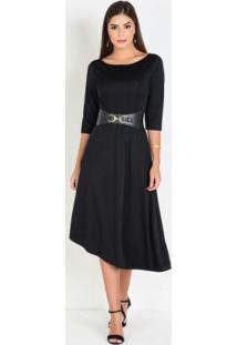 Vestido Mullet Preto Moda Evangélica