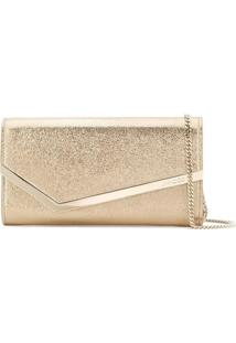 Jimmy Choo Clutch 'Emmie' De Couro - Metálico