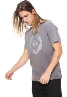 Camiseta Quiksilver Degra Logo Cinza
