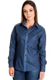 Camisa Pimenta Rosada Marie - Feminino-Azul