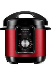 Panela De Pressão Elétrica Pratic Cook 3 L Red Premium I Pe-47-3L-Ri Panela Elétrica De Press O-127V-Vermelho/Inox
