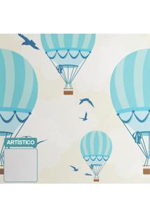 Premium - Papel De Parede Balões Ilustra Boy