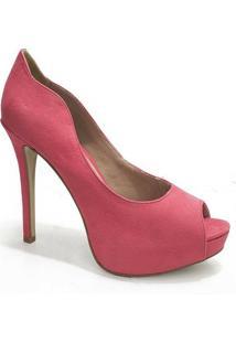 Peep Toe Feminino Sapato Show - Feminino-Pink