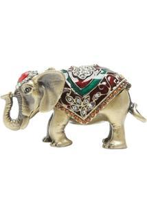 Porta Jóia Elefante Em Zamac 8,5 X 4 X 4 Cm - Unissex