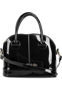 Bolsa Transversal Petite Jolie Mind Bag Feminina - Feminino-Preto