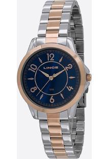 Kit Relógio Feminino Lince Lrt4504-Ku53D2Sr Analógio 5Atm + Pulseira