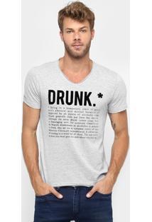 Camiseta Sergio K. Estampada Drunk - Masculino