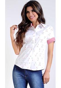 Camisa Intens Manga Curta Algodão Branco
