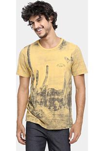 Camiseta Sommer Moletom Recorte - Masculino-Amarelo