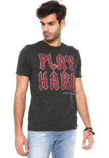 Camiseta John John Play Hard Preta