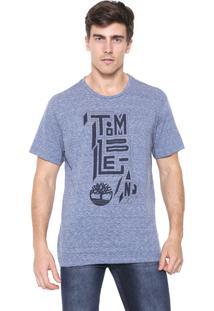 Camiseta Timberland Outline Azul