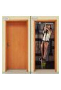 Adesivo Decorativo De Porta - Academia - Fitness - 1194Cnpt