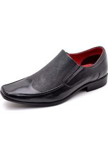 Sapato Lr Shoes Recortes Preto