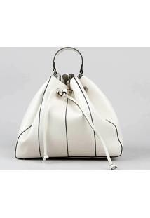 72685ee50f ... Bolsa Bucket Feminina Grande Com Alça Transversal Off White - Único