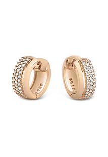 Argola Ouro Rosã© E Diamantes