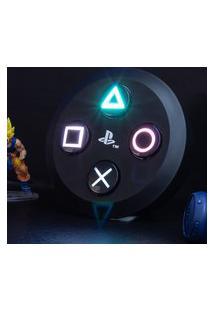 Luminária Playstation Bright Icons Branco