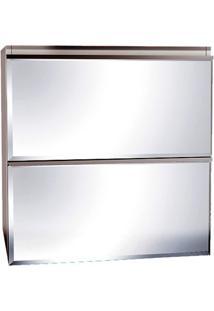 Espelheira Blumenau Quadrada 60Cm Branca