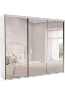 Guarda-Roupa Casal Com Espelho Luminum Ll 3 Pt 6 Gv Branco