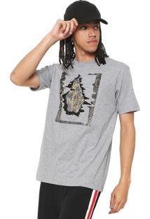 Camiseta Volcom Statiq Cinza