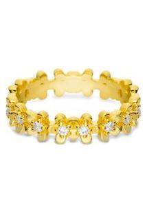 Anel Life Flores Miosótis Com Banho Ouro Amarelo By Vivara