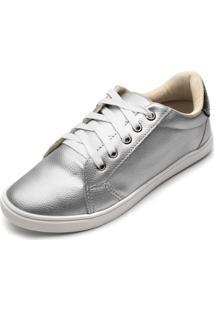 Tênis Dafiti Shoes Metalizado Prata