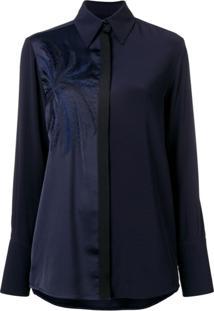 Victoria Victoria Beckham Blusa Com Bordado - Azul