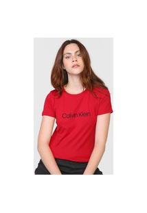 Camiseta Calvin Klein Logo Vermelha