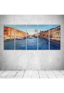Quadro Decorativo - Venice530 - Composto De 5 Quadros - Multicolorido - Dafiti