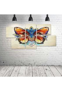 Quadro Decorativo - Fantasy-Art-Artwork-Artistic - Composto De 5 Quadros - Multicolorido - Dafiti