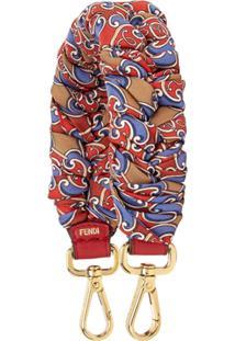 Fendi Grille Royale Print Shoulder Strap - Vermelho