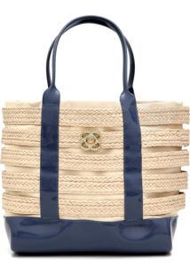 Bolsa Petite Jolie Summer Azul-Marinho/Bege