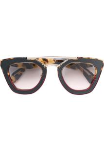717a5f23b70cf ... Prada Eyewear Óculos De Sol Quadrado - Marrom