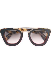 59bc162cc28a5 ... Prada Eyewear Óculos De Sol Quadrado - Marrom