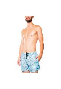 Short Mxc Brasil Praia Cigarette Azul