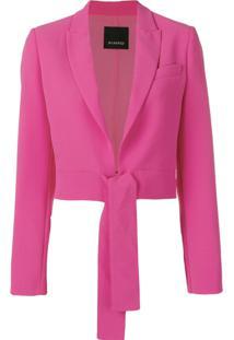 Pinko Blazer Com Amarração - Rosa