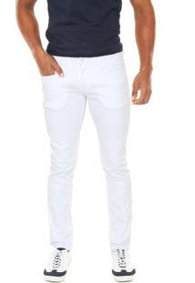 Calça Sarja Calvin Klein Jeans Skinny Color Branca