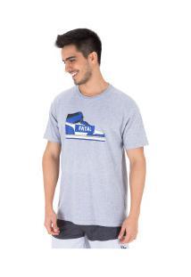 Camiseta Fatal Estampada 20325 - Masculina - Cinza