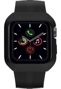 Pulseira Gorila Shield Dual Shock Para Apple Watch 44Mm Preto