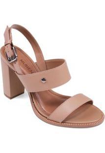 Sandalia Salto Alto Rebite Personalizado Caramelo
