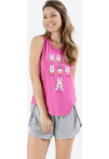 Pijama Feminino Short Doll Margarida Disney