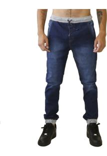 Calça Jogger Verse Limited Jeans Ribanda Bordado