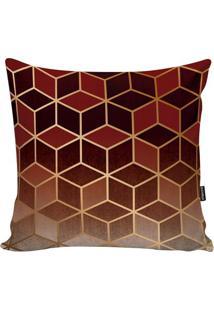 Capa De Almofada New Geometric- Vermelha & Marrom- 4Stm Home